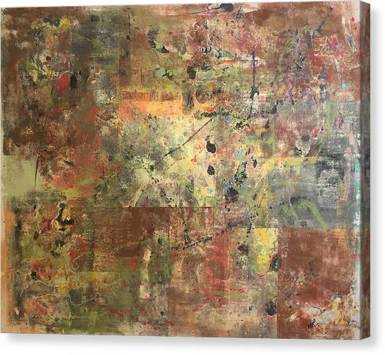 Untitled Clay Monotype Canvas Print by William Renzulli