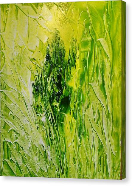 Untitled Green Canvas Print by Larry Ney  II