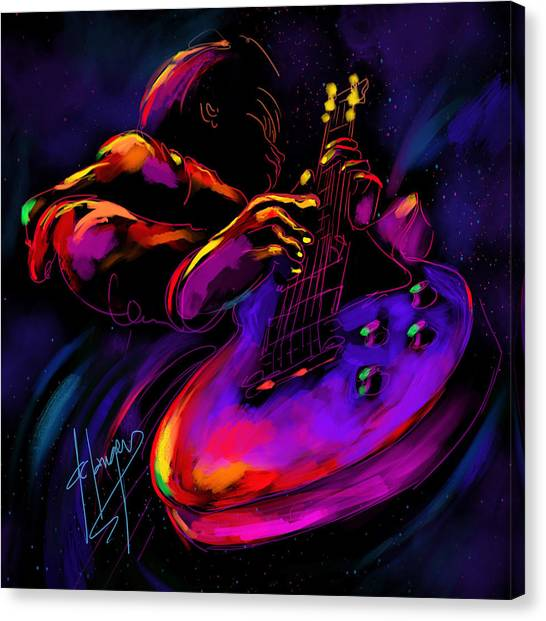 Untitled Guitar Art Canvas Print