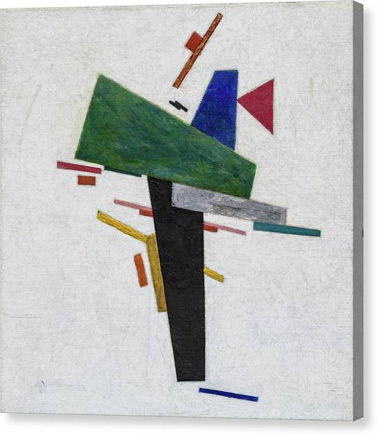 Suprematism Canvas Print - Untitled by Kazimir Malevich