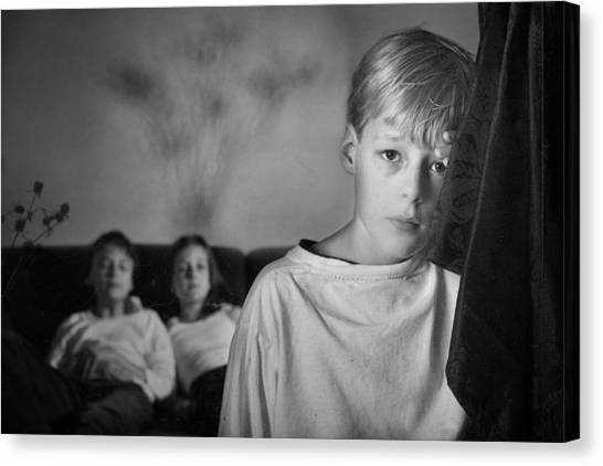 Boy Canvas Print - Untitled by Mirjam Delrue