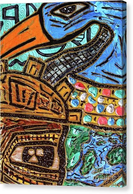 Untitled Olmec And Tehuti Canvas Print