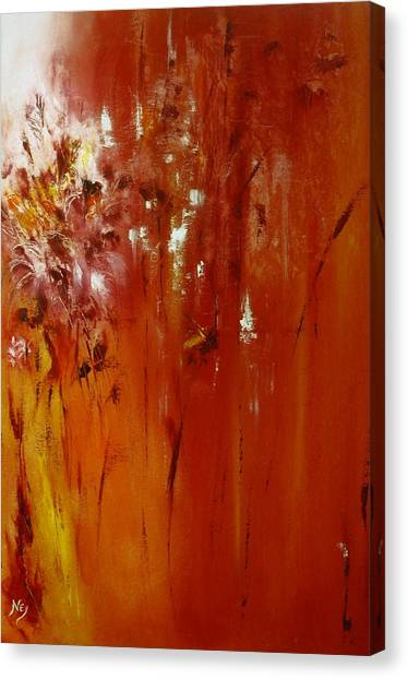 Untitled Red Canvas Print by Larry Ney  II