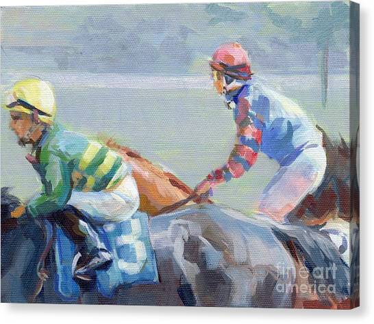 Thoroughbreds Canvas Print - Untitled Saratoga by Kimberly Santini