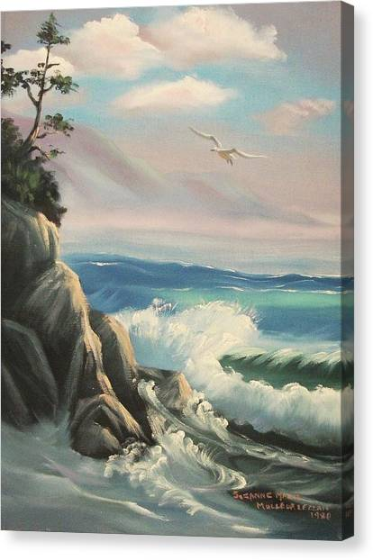 Untitled Seascape Canvas Print by Suzanne  Marie Leclair