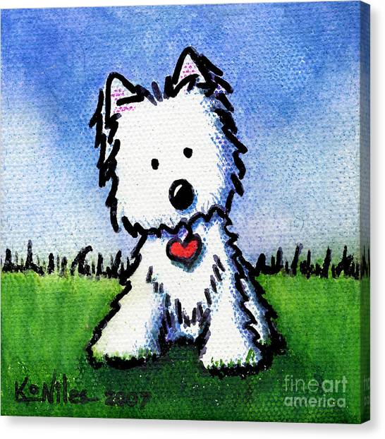 Untitled Westie Canvas Print