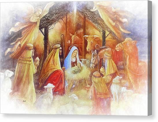 Unto Us A Savior Is Born Canvas Print