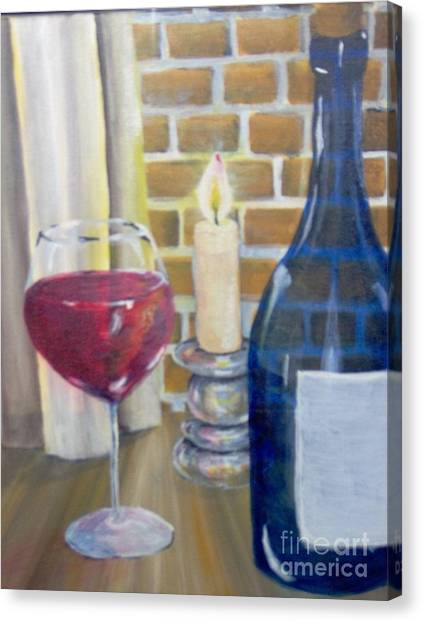 Canvas Print featuring the painting Unwind by Saundra Johnson