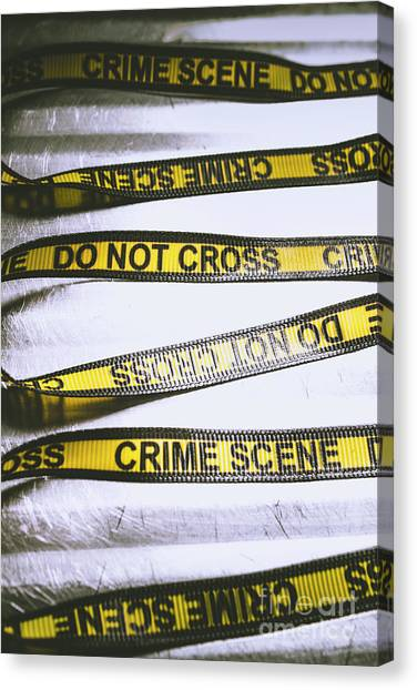 Law Canvas Print - Unwrapping A Murder Investigation by Jorgo Photography - Wall Art Gallery