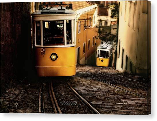 Light Rail Canvas Print - Up And Down by Jorge Maia