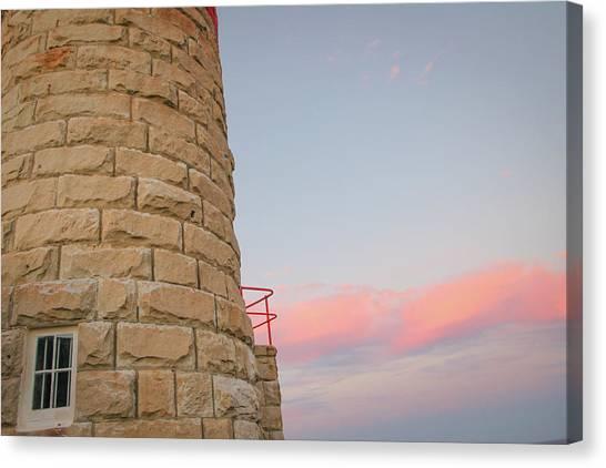 Close-up Detail Of The Cape Moreton Lighthouse Canvas Print