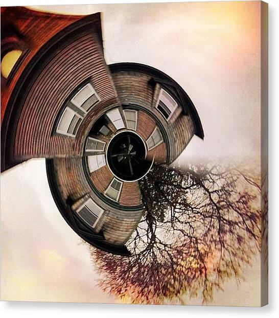 Surrealism Canvas Print - Up In A Tower With Nothing To See by Amy DiPasquale