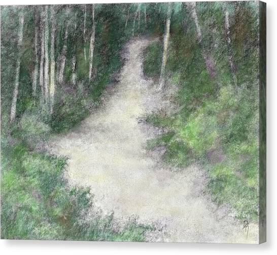 Up Into The Woods Colorized Canvas Print by David King