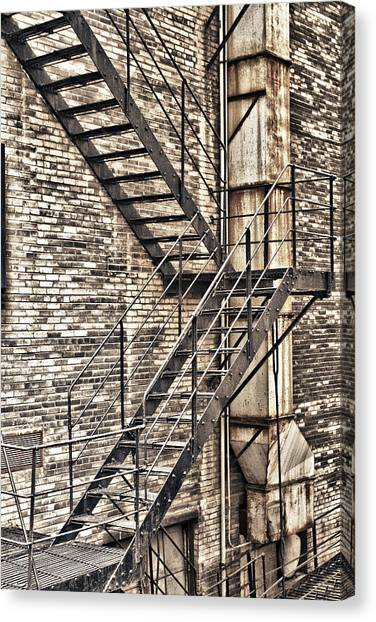 Chicago Fire Canvas Print - Up Or Down by Jason Wolters
