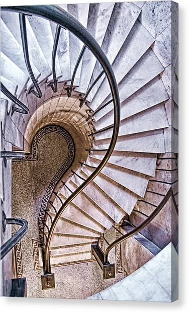 Spiral Canvas Print - Up Or Down? by Tom Mc Nemar