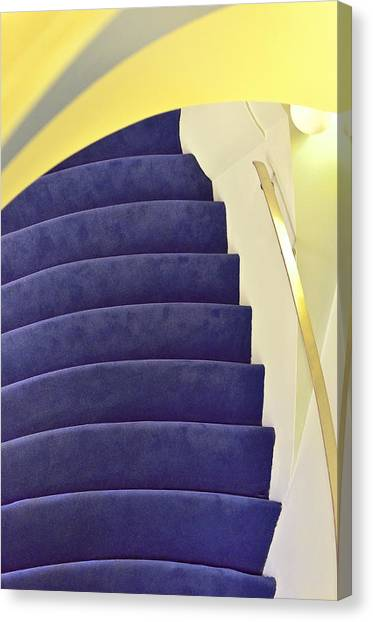 Canvas Print featuring the photograph Up The Down Staircase by Jon Exley