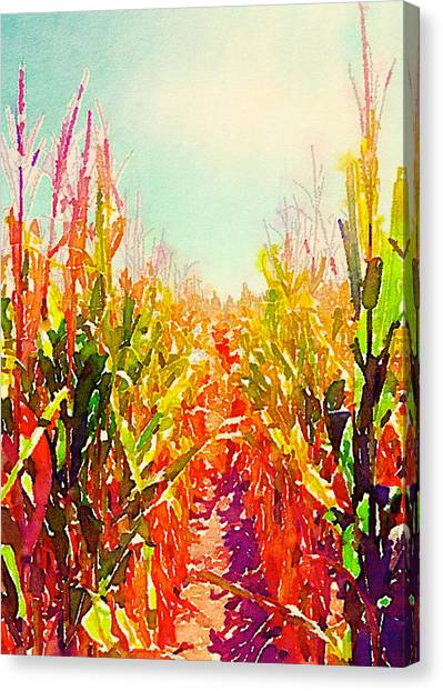 Iowa Canvas Print - Up The Row II Rectangle by Jennifer Richter