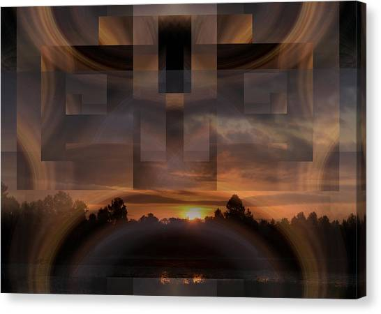 Up There In The Sky At Dawn Canvas Print by rd Erickson