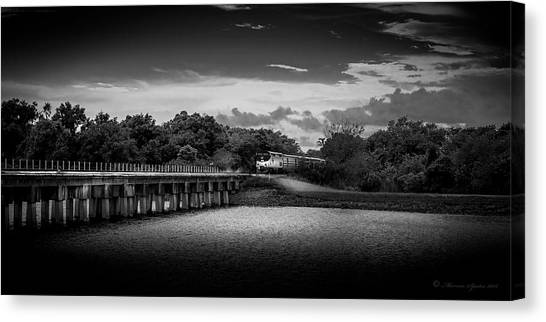 Amtrak Canvas Print - Up To Speed-b/w by Marvin Spates