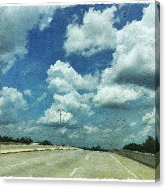 Roads Canvas Print - Up To The Clouds #road#art #clouds by Joan McCool