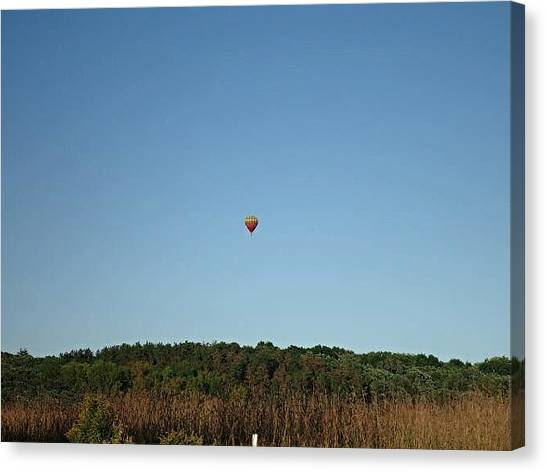 Hot Air Balloons Canvas Print - Up Up And Away by Jana E Provenzano