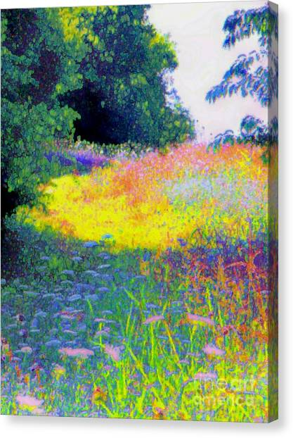 Uphill In The Meadow Canvas Print