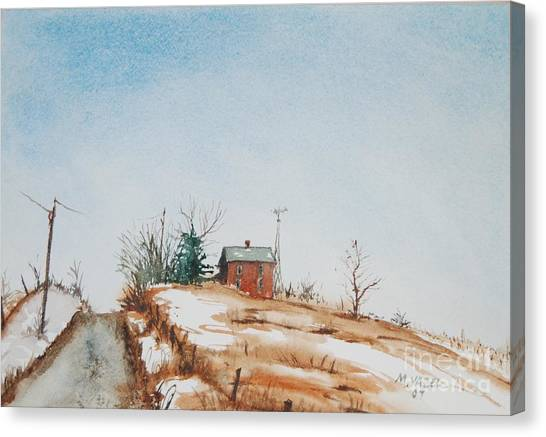 Uphill Canvas Print by Mike Yazel