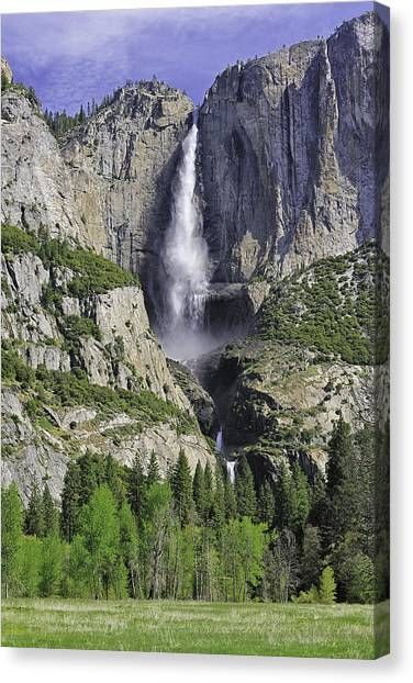 Upper And Lower Yosemite Falls Canvas Print