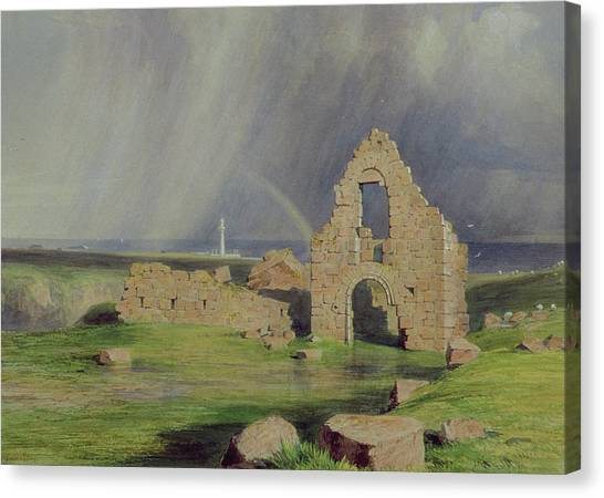 The Haunted House Canvas Print - Upper Boddam Castle by James Giles