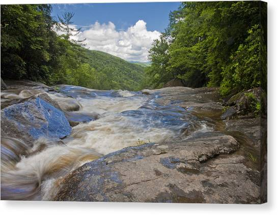Upper Creek Waterfalls Canvas Print