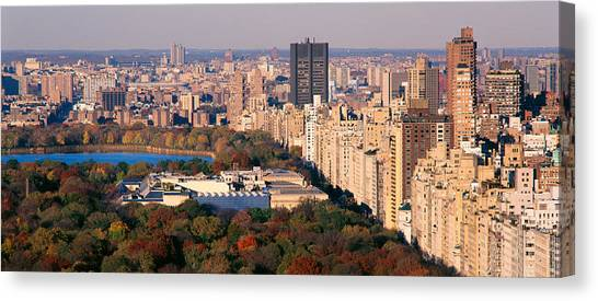 The Metropolitan Museum Of Art Canvas Print - Upper East Side Central Park New York by Panoramic Images