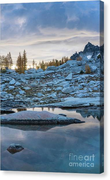 Larch Canvas Print - Upper Enchantments Calm Pools by Mike Reid