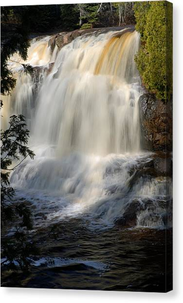 Upper Falls Gooseberry River 2 Canvas Print