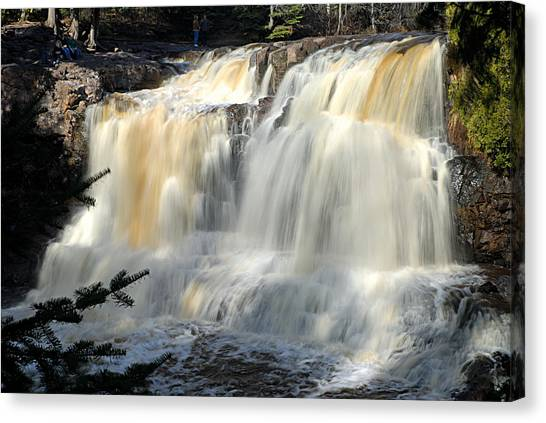 Upper Falls Gooseberry River Canvas Print