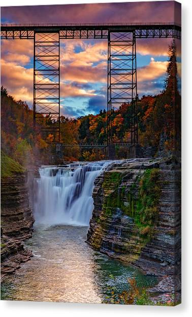 Upper Falls Letchworth State Park Canvas Print