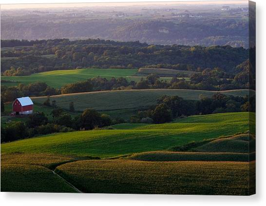 Upper Mississippi River Valley Hills Canvas Print