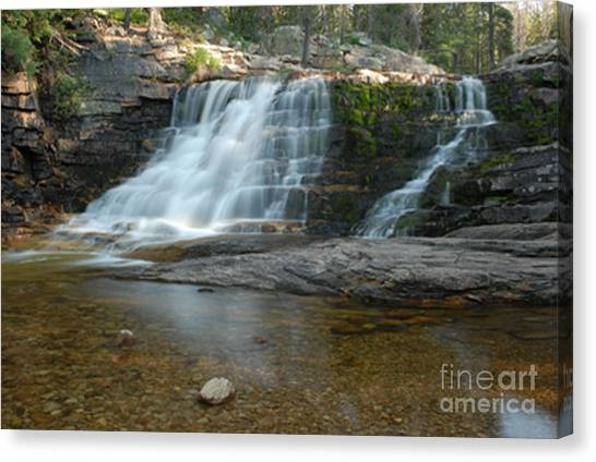 Upper Provo River Falls Canvas Print by Dennis Hammer