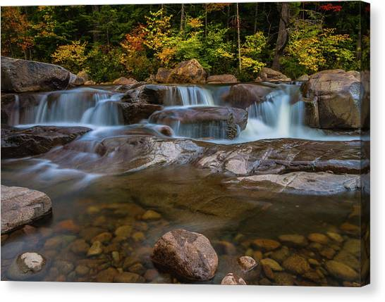 Upper Swift River Falls In White Mountains New Hampshire Canvas Print