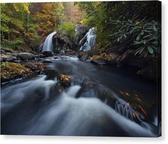 Upper Turtletown Falls Autumn Canvas Print
