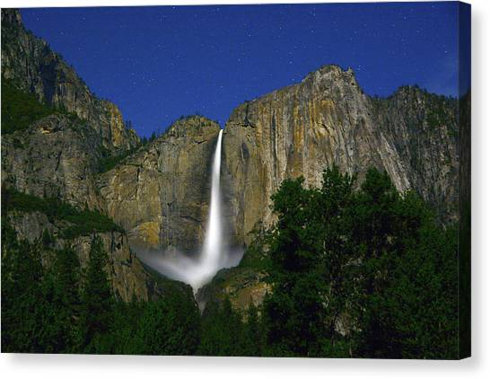 Upper Yosemite Falls Under The Stairs Canvas Print