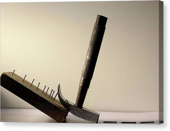 Hammers Canvas Print - Uprooting The Nails  Uprooting The by Sahil Alurkar