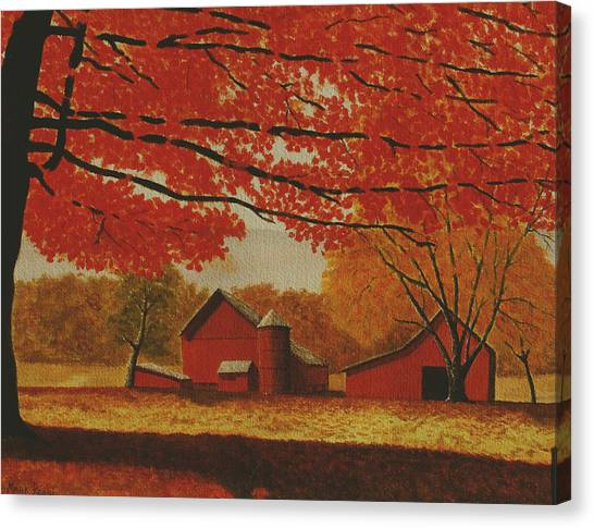 Upstate Autumn Canvas Print by Mark Regni