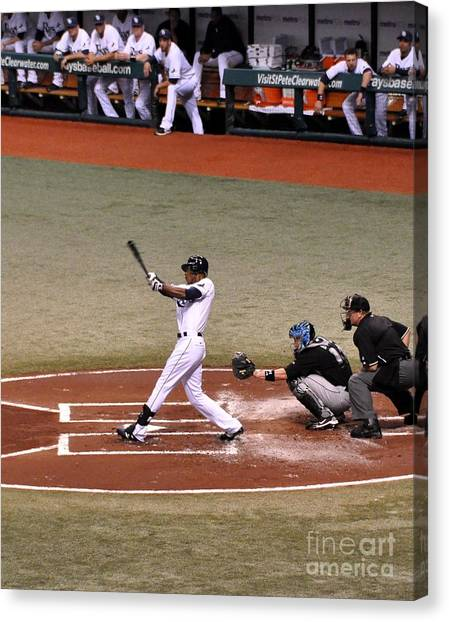 Upton At The Plate Canvas Print