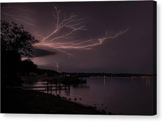 Upward Lightning Canvas Print