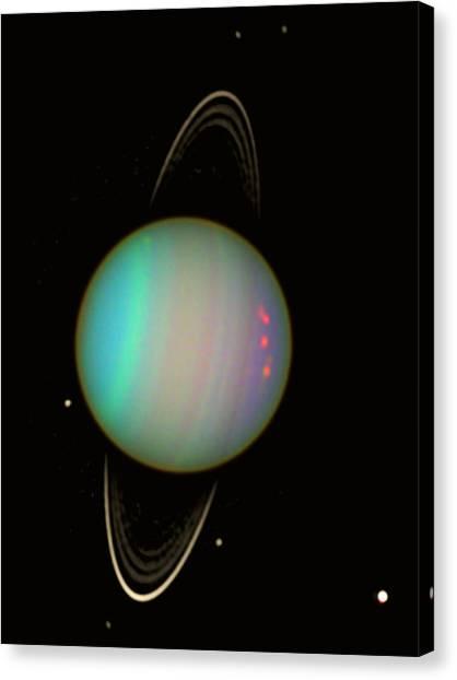 Uranus Canvas Print - Uranus by Nasaesastscie.karkoschka, U.arizona