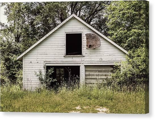 Abandoned House Canvas Print - Urban Abandonment 3 by Kim Hojnacki