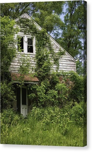 Abandoned House Canvas Print - Urban Abandonment by Kim Hojnacki