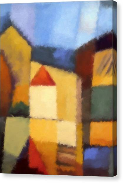 Abstract Expressionism Canvas Print - Urban Abstract by Lutz Baar