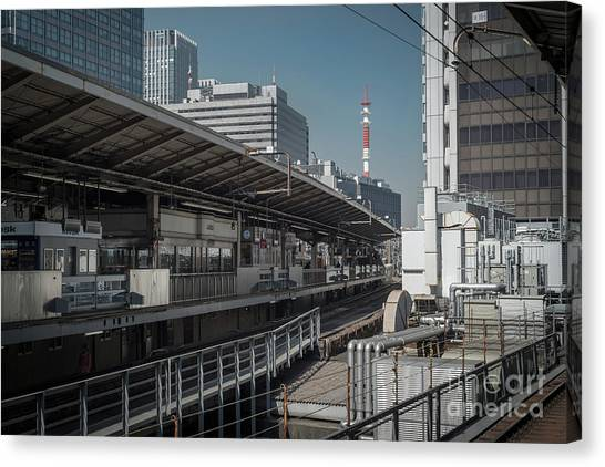 Bullet Trains Canvas Print - Urban Architecture, Tokyo Japan by Perry Rodriguez