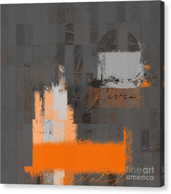 Cubism Canvas Print - Urban Artan - S0111 - Orange by Variance Collections